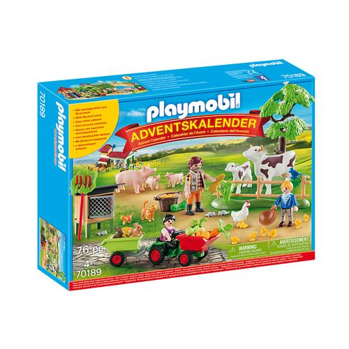 Image of Playmobil Julekalender 70189 På bondegården