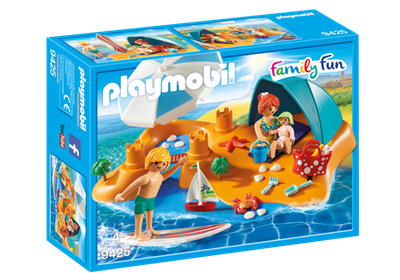 Image of Playmobil 9425 Familie På Stranden