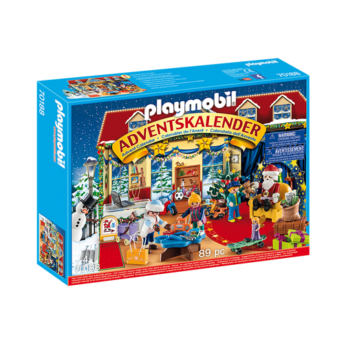 Image of Playmobil julekalender 70188 Jul I Legetøjsbutikken