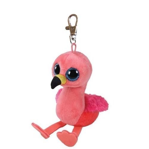 Image of   Ty Beanie Boo nøglering Flamingoen Gilda