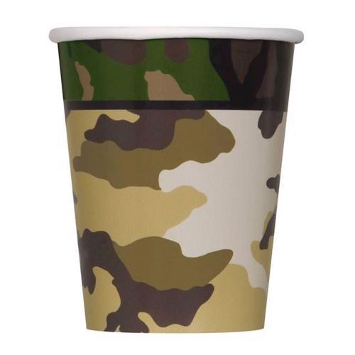 Image of   Engangskrus, camouflage, 8 stk