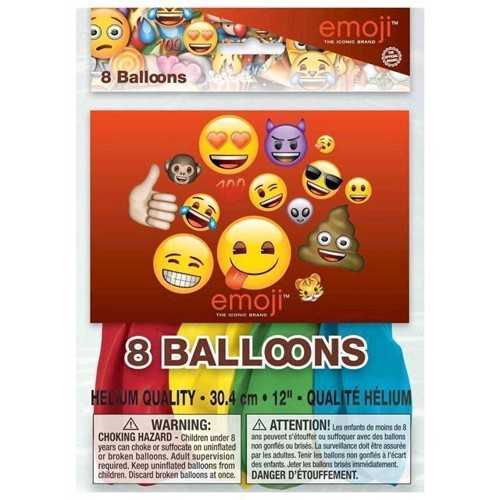 Image of   Balloner Emoji, 8st.