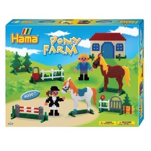 Image of   Hama perlesæt, pony farm, 4000 stk