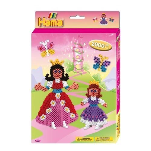 Image of   Hama perlesæt med prinsesser, 2000 stk