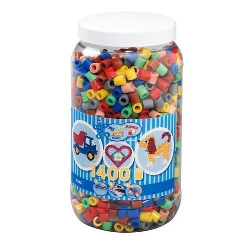Image of Hama Maxi perler farve Mix (069), 1400 stk (0028178085438)