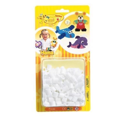 Image of Hama maxi perler, hvid, 250 stk (0028178086015)