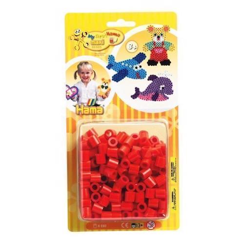 Image of Hama maxi perler, rød, 250 stk (0028178086053)