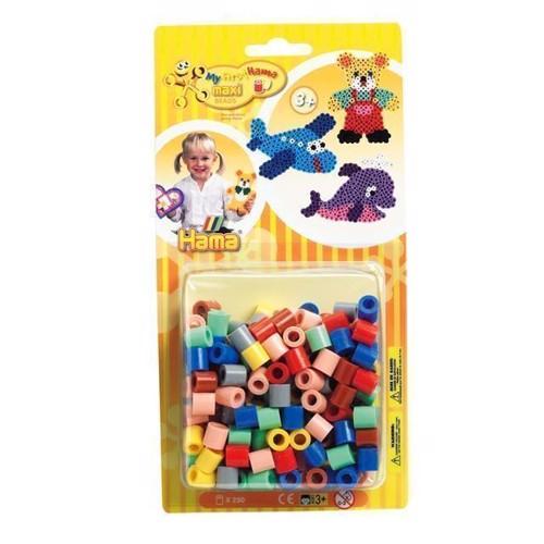 Image of Hama Maxi perler, farve Mix (069), 250 stk (0028178086732)