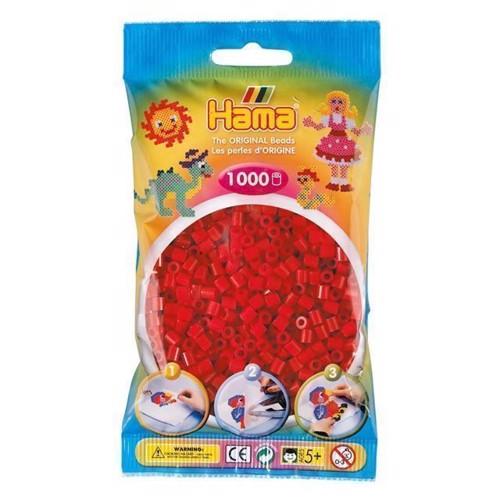 Image of   Hama perler mørk rød (022), 1000 stk