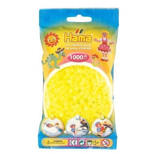 Image of   Hama perler gul neon (034), 1000 stk