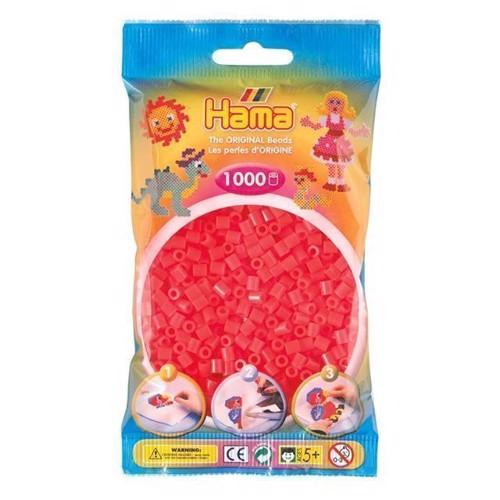 Image of   Hama perler rød neon (035), 1000 stk