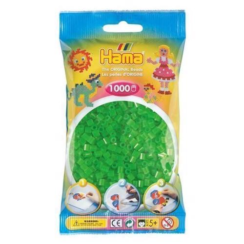 Image of   Hama perler grøn neon (037), 1000 stk