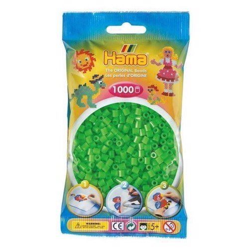 Image of   Hama perler grøn fluor (042), 1000 stk