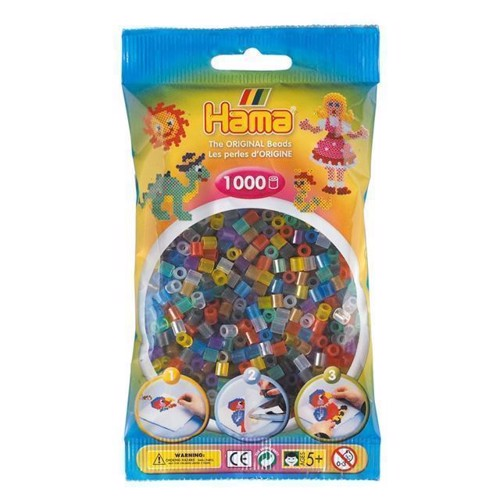 Image of   Hama perler transparent mix (053), 1000 stk