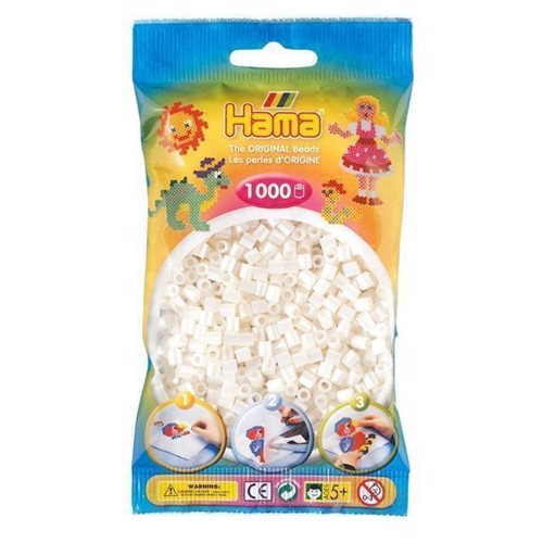 Image of   Hama perler perle hvid (064), 1000 stk
