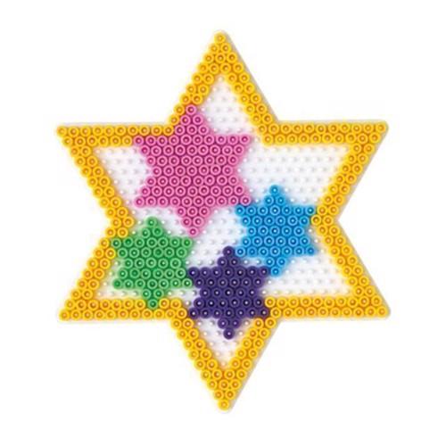 Image of   Hama perleplade, stjerne, stor