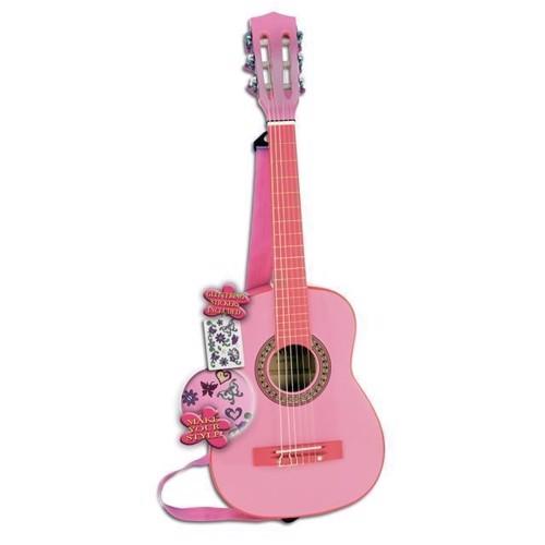 Image of   Guitar i træ fra Bontempi, Pink