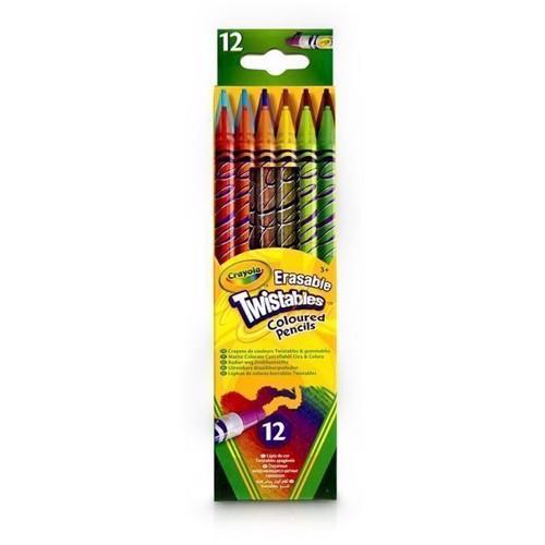 Image of   Crayola Twistables farveblyanter, 12 stk, kan viskes ud