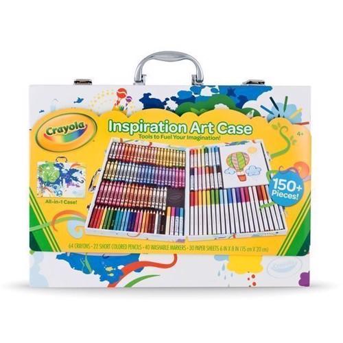 Image of   Stor kreativt tegne kuffert, Crayola 140 dele