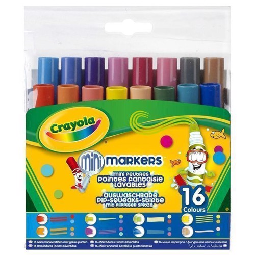 Image of   Crayola Pipsqueaks, mini tusser med forskellige mønstre