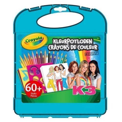Image of   Crayola K3, tegne kuffert med farveblyanter