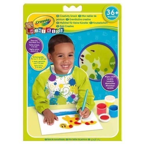 Image of   Crayola Mini Kids, male forklæde med lange ærmer
