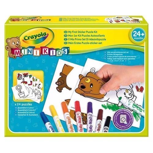 Image of   Crayola Mini Kids, puslespils klistermærke sæt