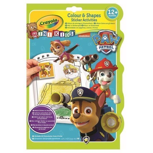 Image of Crayola Mini Kids, male og klistermærkebog med Paw Patrol (0071662213732)