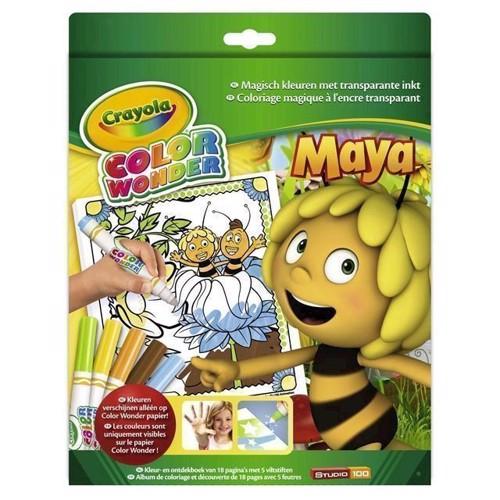 Image of Malesæt med bog og magiske tuscher Crayola Color Wonder - Bi Maja
