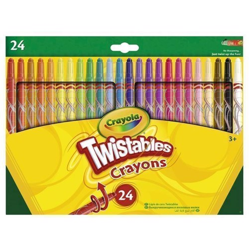 Image of Crayola Twistables, farvekridt 24 stk