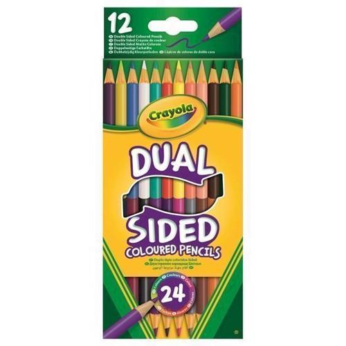 Image of   Crayola Duo, dobbelt farveblyanter 12 stk