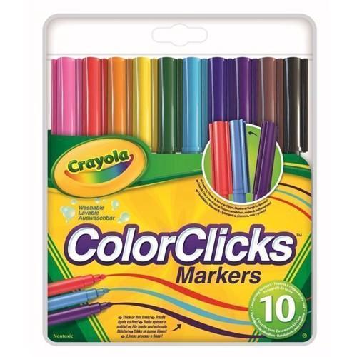 Image of   Crayola Colorclicks Felt-tip tusser, 10 stk