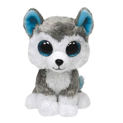 Image of   Ty Beanie Boo bamse, hunden Slush, 15 cm