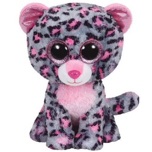 Image of   Ty Beanie Boo bamse, leoparden Tasha,15 cm