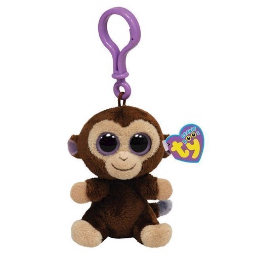 Image of   Ty Beanie Boo nøglering, aben Coconut