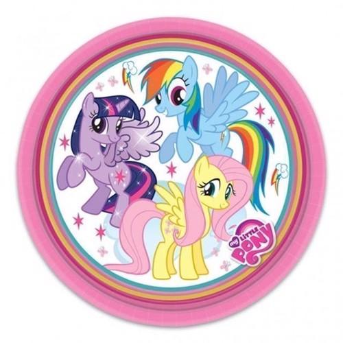 Image of   Tallerkener My Little Pony, 8 stk