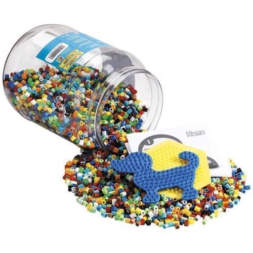 Image of Hama perler med perleplader, 7000 stk