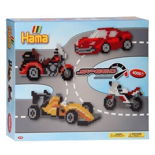 Image of   Hama perlesæt, racerbiler, 4000 stk