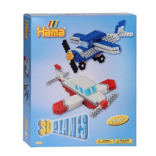 Image of Hama perlesæt, 3D flyvemaskine, 2500 stk (028178032425)