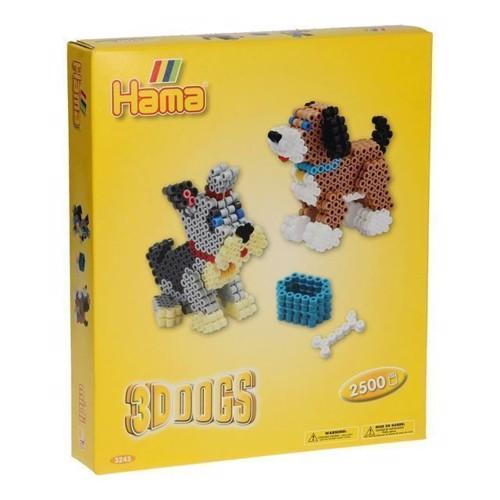 Image of Hama perlesæt, 3D hunde, 2500 stk (028178032432)