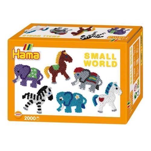 Image of Hama perlesæt med elefant og pony, 2000 stk (028178035044)