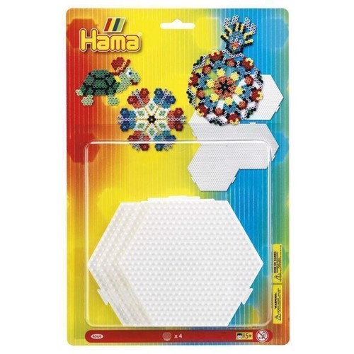 Image of   Hama perleplader Hexagon, 4 stk