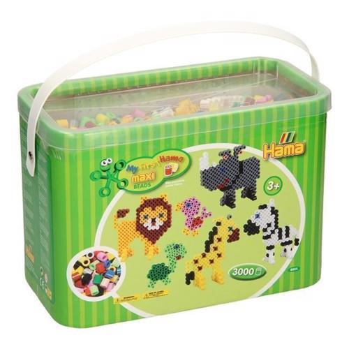 Image of Hama maxi perler i kasse, 3000 stk (028178088040)