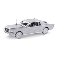Metal Earth byggesæt, Ford Mustang Coupe, silver edition