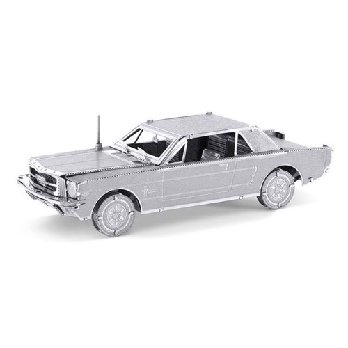 Image of Metal Earth byggesæt, Ford Mustang Coupe, silver edition