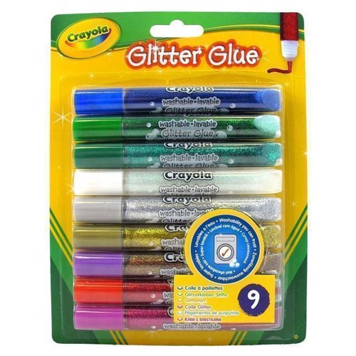 Image of   Crayola Glitter lim 9 stk