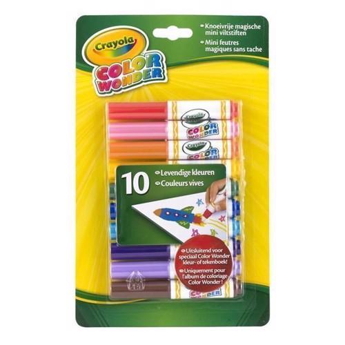 Image of Crayola Color Wonder, magiske farveskifte tusser, 10 stk