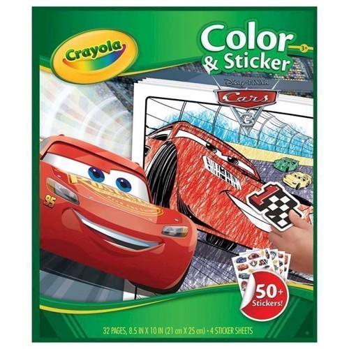 Image of   Malebog med klistermærker Crayola Cars 3