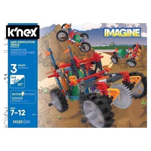 Image of KNex 4WD Demolition Truck byggesæt, 212 dele (0744476130266)