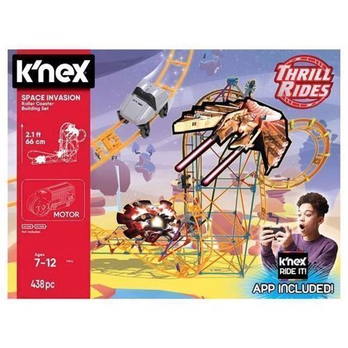 Image of KNex Space Invasion Rollercoaster Byggesæt, 438 dele (0744476270443)